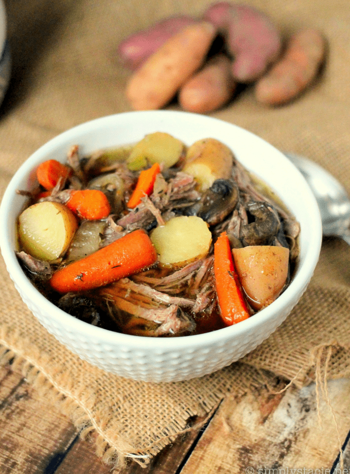 Slow cooker beef soup recipes - Beef brisket and vegetable soup