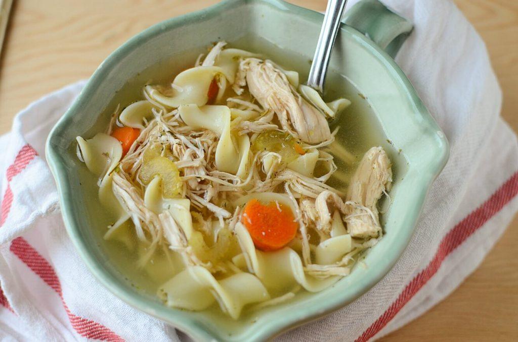 Turkey slow cooker soup recipes - turkey noodle soup