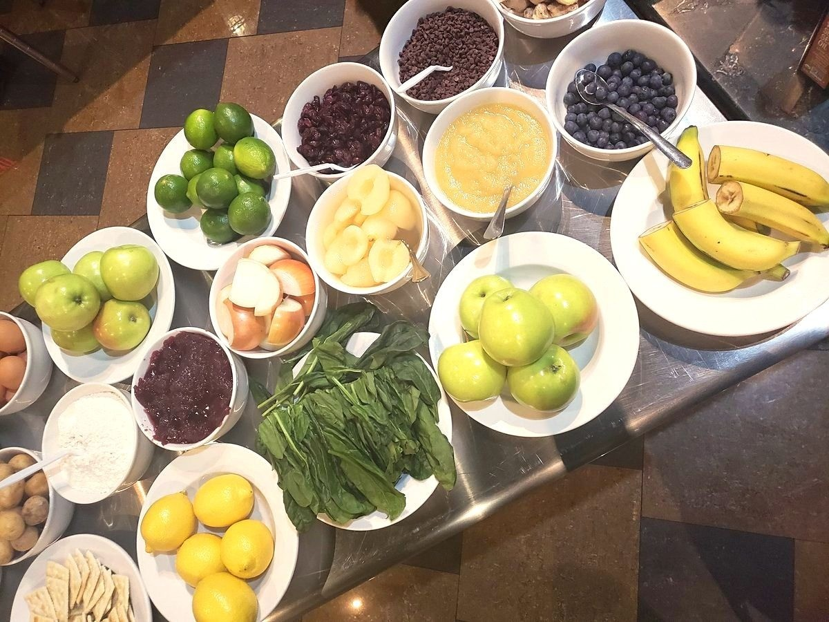 Fresh fruits and vegetables for the NOW Foods Iron Chef Challenge