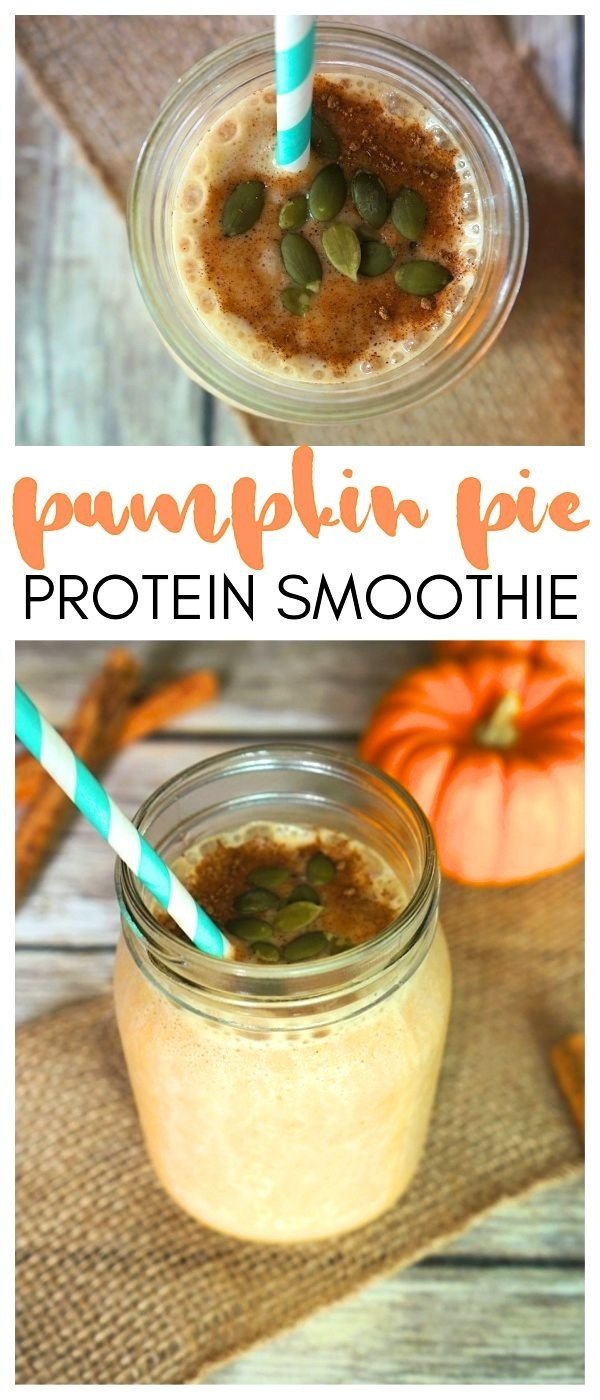 Healthy Pumpkin Pie Smoothie Recipe With Protein | easy pumpkin smoothie | pumpkin spice smoothie | pumpkin banana smoothie | healthy pumpkin smoothie recipe | pumpkin protein smoothie recipe | honeyandlime.co