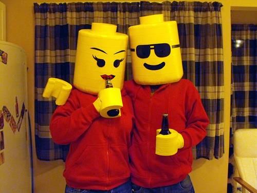 LEGO Halloween couple costume