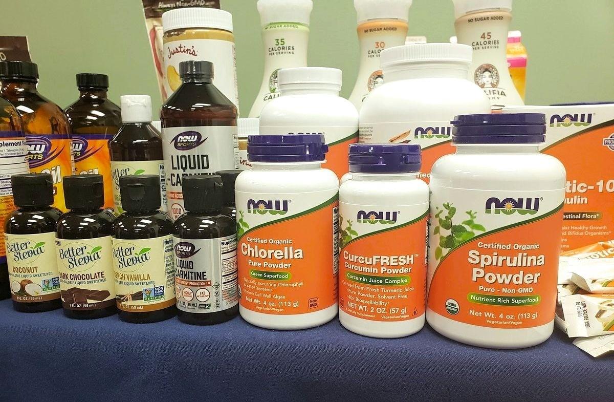 NOW Sports vitamins and supplements- Spirulina powder Chlorella powder Curcumin powder