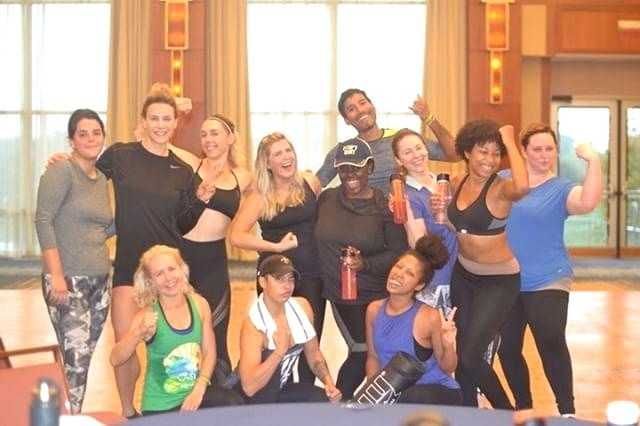 Team at NOW Foods brand headquarters visit kick boxing class