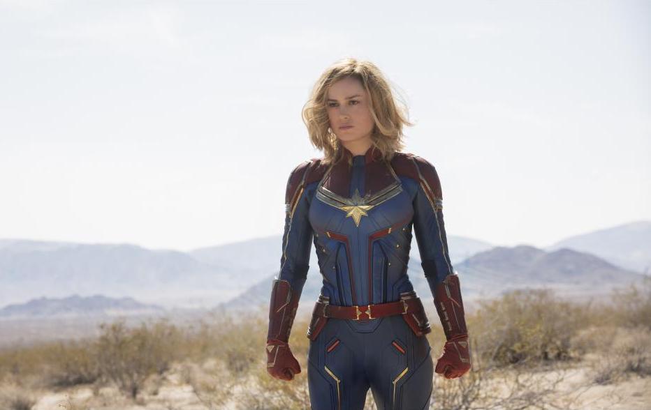 Captain Marvel movie, Brie Larson in uniform