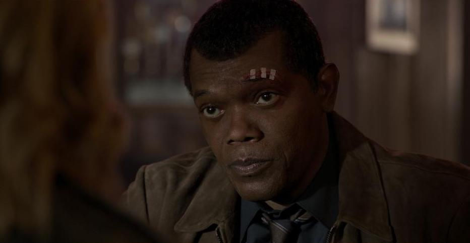 Captain Marvel movie still, Nick Fury