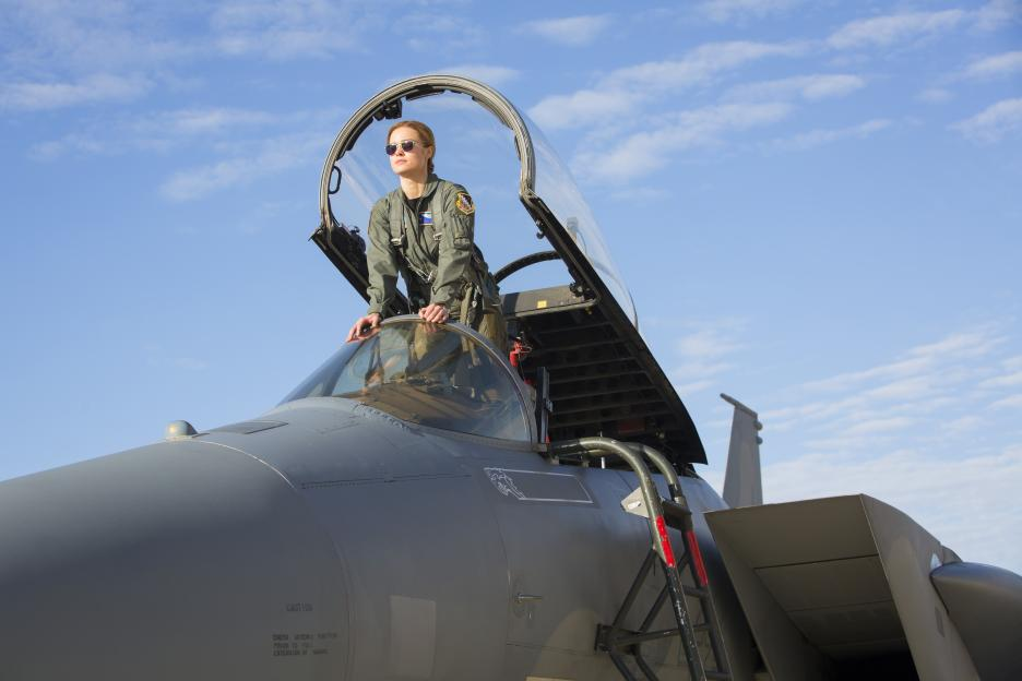 Captain Marvel photos from the movie, Brie Larson