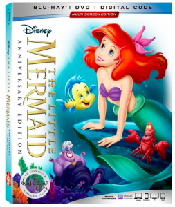 Disney's The Little Mermaid 30th Anniversary Blu-ray DVD Digital Code