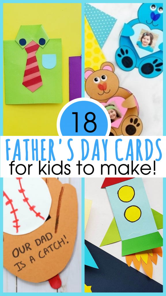 8 Adorable Homemade Fathers Day Cards for Kids To Make!