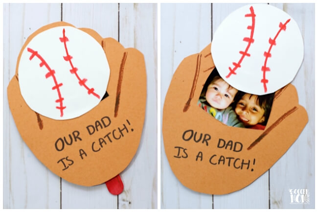 Baseball Pop Up Handmade Father's Day card - The Soccer Mom Blog