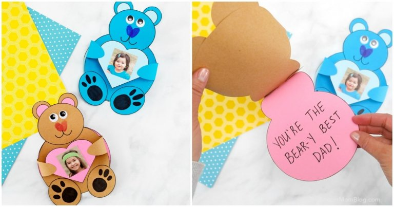 Teddy bear photo card - The Soccer Mom blog
