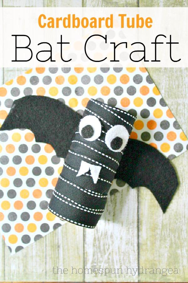 Halloween Bat Craft for Kids, The Homespun Hydrangea