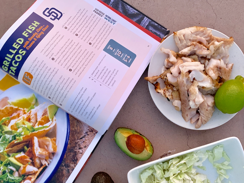 Making grilled fish tacos with Kingsford and MLB inspired by the San Diego Padres