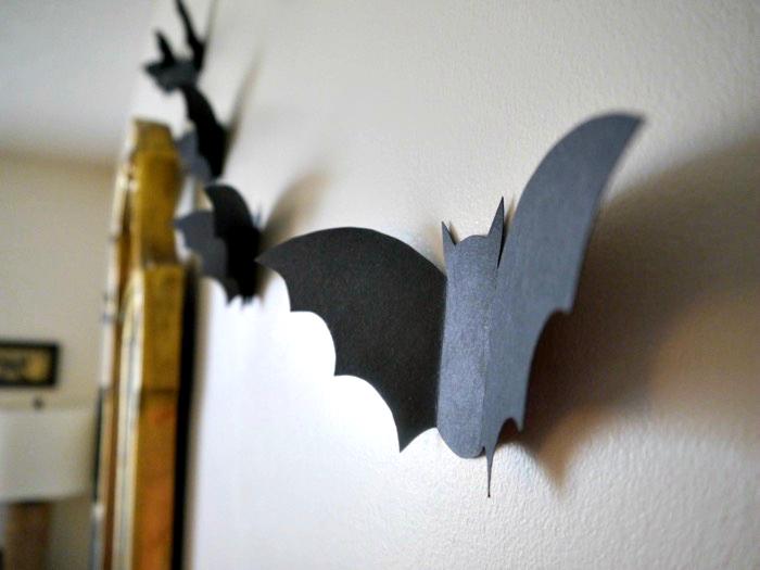 Paper flying bats, eat, move, make